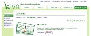 Abbildung: Link für die Einlösung des Geschenkzertifikates
