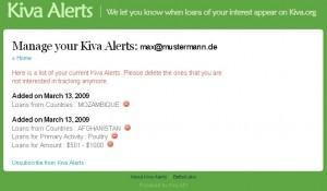 Nachrichtenverwaltung auf Kiva Alerts